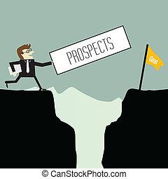 Businessman want prospects
