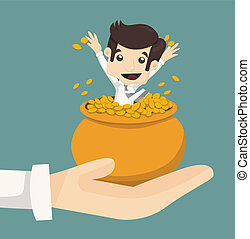 Businessman wealth , eps10 vector format