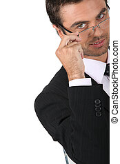 Businessman wearing glasses