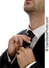 businessman wearing tie