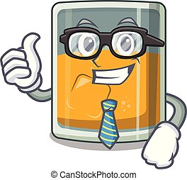 Businessman whiskey islated with in the character vector illustration
