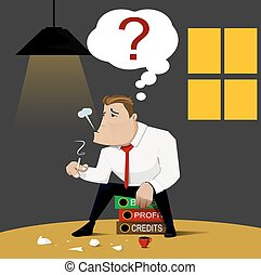 Businessman who bankruptcy, vector design. - Businessman who...