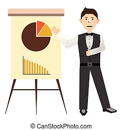 BUsinessman with a business graph