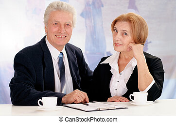 businessman with a business woman
