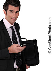 Businessman with a cellphone