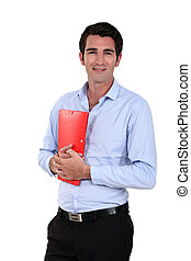Businessman with a folder