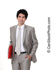 Businessman with a folder