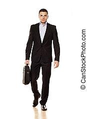 businessman with a laptop bag