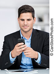 Businessman with a mobile phone