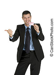 """""""businessman with a red card"""