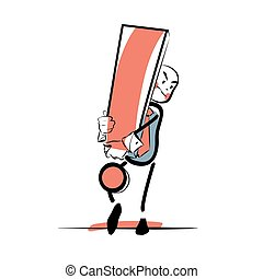 Businessman with an exclamation point color vector