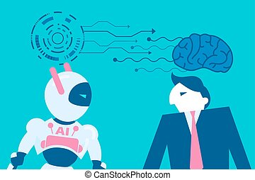 man with artificial intelligence