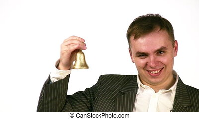 businessman with bell