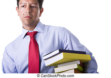 businessman with books