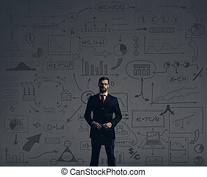 Businessman with briefcase. Business and office, concept.