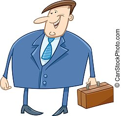 businessman with briefcase cartoon