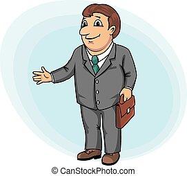 Businessman with briefcase