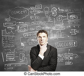 man with business plan