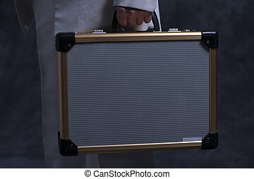 Businessman with case