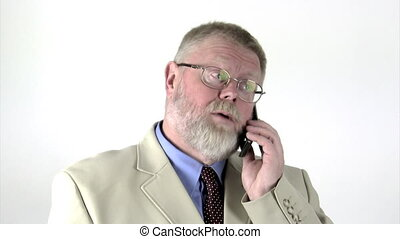 Businessman with cell phone - Businessman talking on a cell...