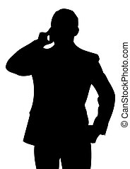 Businessman with cell phone. - Caucasian businessman with...