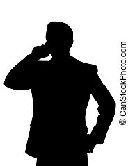 Businessman with cell phone.Vector