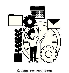 businessman with clock time
