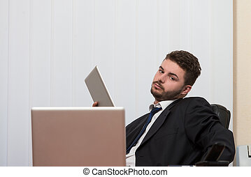 Businessman With Computer