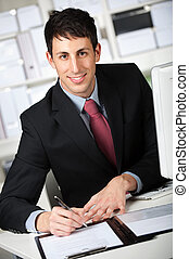 Businessman With Contract