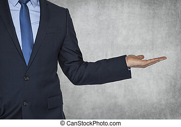 businessman with copy space for your product