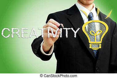 Businessman with Creativity Concept