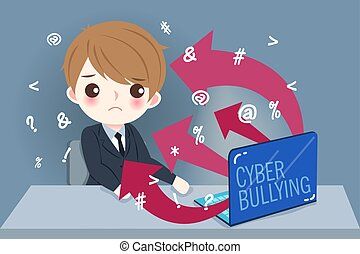 businessman with cyber bullying