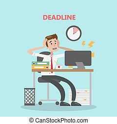 Businessman with deadline.