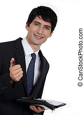 Businessman with diary