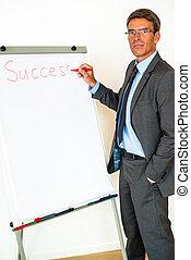Businessman with Flipchart