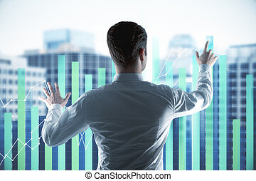 businessman with forex chart
