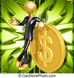 Businessman With Gold Coin