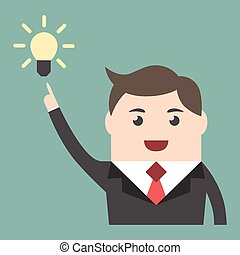 Businessman with great idea
