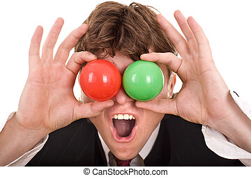 Businessman with  group ball.