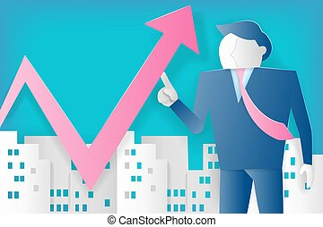 businessman with growth concept