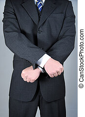 Businessman with hands crossed