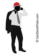 businessman with hardhat