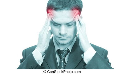 Businessman with headache