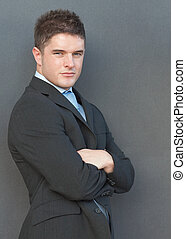 Businessman with his arms folded