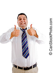 businessman with his thumbs up