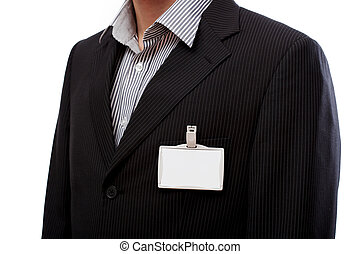 Businessman with ID to put your text here