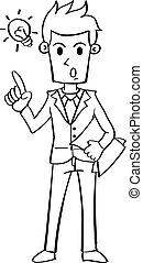 Businessman with idea character collection