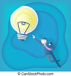 businessman with idea concept