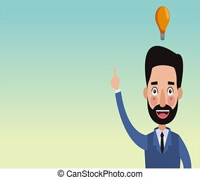 Businessman with idea HD animation