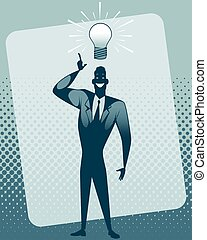 Businessman with idea